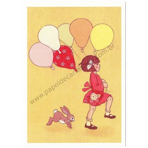 Cartão Postal Balloon - Belle & Boo