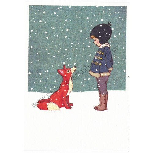 Cartão Postal Hello Mr Fox - Belle & Boo