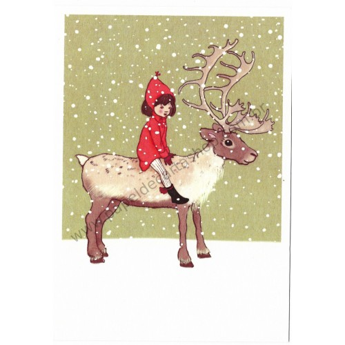 Cartão Postal Me & My Reindeer - Belle & Boo