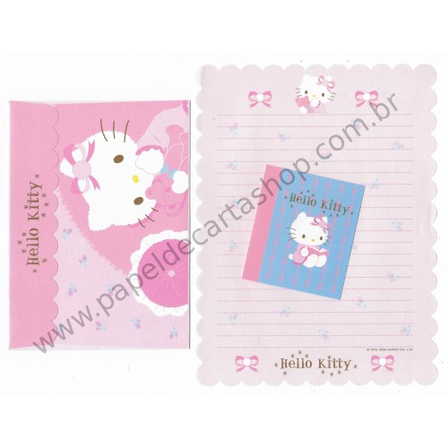 Ano 2006. Conjunto de Papel de Carta Hello Kitty Bear Kt - Sanrio