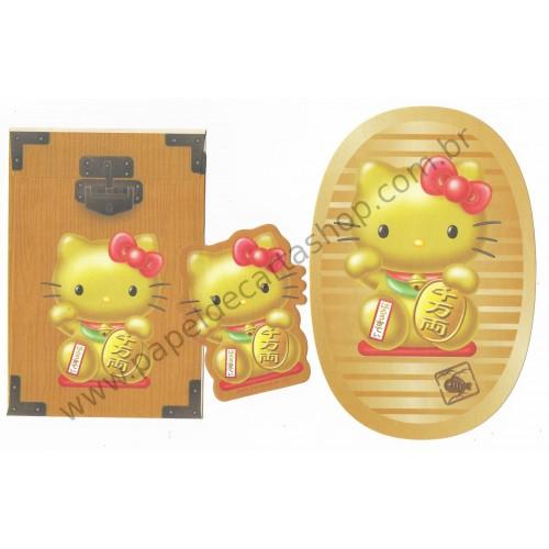 Ano 2007. Conjunto de Papel de Carta Hello Kitty Coin - Sanrio
