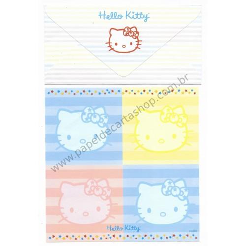 Conjunto de Papel de Carta Hello Kitty Grafons CAZ M - Sanrio