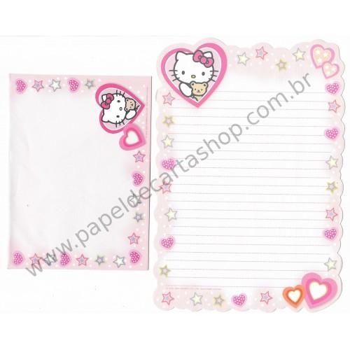Conjunto de Papel de Carta Hello Kitty Grafons Gifts CLA - Sanrio