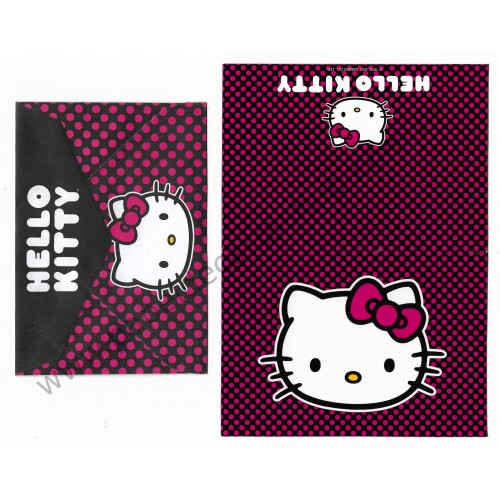 Ano 2011. Notecard Cartão Hello Kitty Pink1 - Sanrio