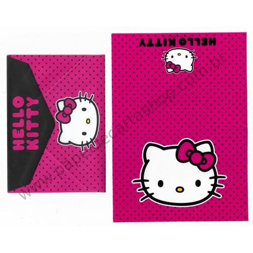 Ano 2011. Notecard Cartão Hello Kitty Pink3 - Sanrio