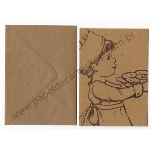 Cartão com Envelope Cookie - Belle & Boo