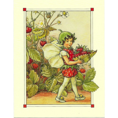 Postal Antigo Importado The Strawberry Fairy - Cicely