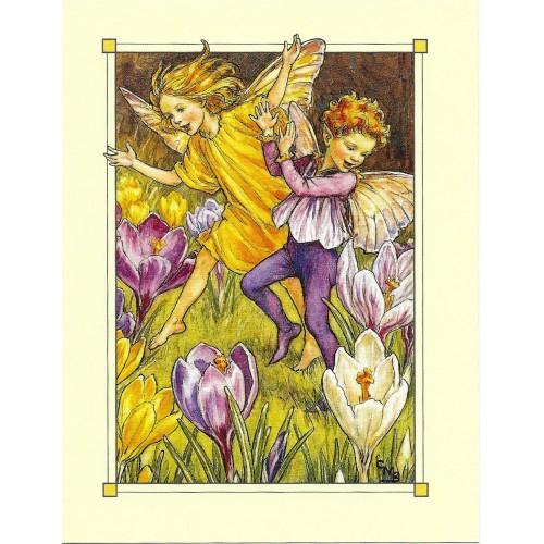 Postal Antigo Importado The Crocus Fairies - Cicely
