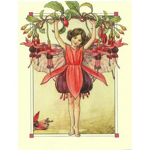 Postal Antigo Importado The Fuchsia Fairy - Cicely