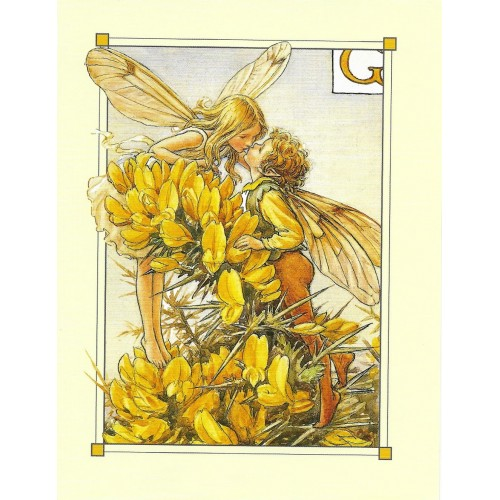 Postal Antigo Importado The Gorse Fairies - Cicely