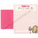 Conjunto de Papel de Carta Antigo (Vintage) Pinny-Mu Pink San-X