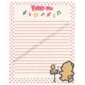 Papel de Carta AVULSO Antigo (Vintage) Pinny-Mu Pink San-X