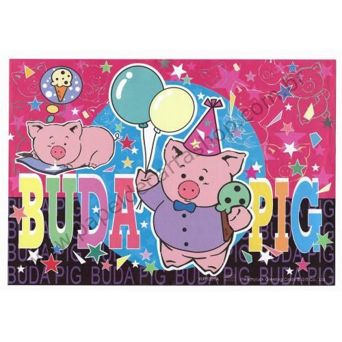 Papel de Carta AVULSO Antigo (Vintage) Buda Pig CPK Wealthyluck