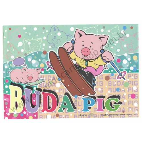 Papel de Carta AVULSO Antigo (Vintage) Buda Pig VD Wealthyluck