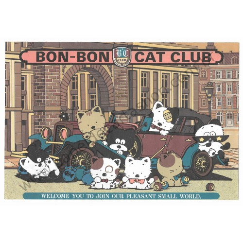 Papel de Carta AVULSO Antigo (Vintage) Bon Bon Cat BBC Club