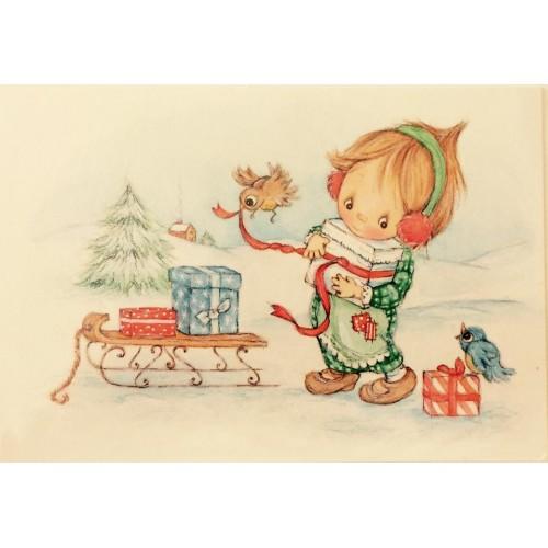 Ano 1970. Cartão ANTIGO Betsey Clark Hallmark