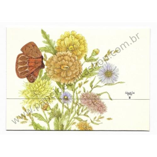 Postalete Antigo Importado Flores - Ambassador Cards