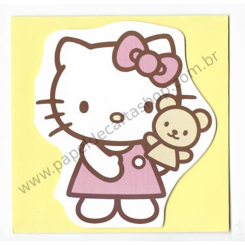 Mini Cartão Hello Kitty Yellow 2 - Sanrio