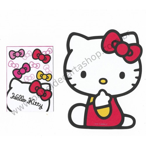 Ano 2013. Kit 2 Mini Papéis de Carta Hello Kitty - Sanrio