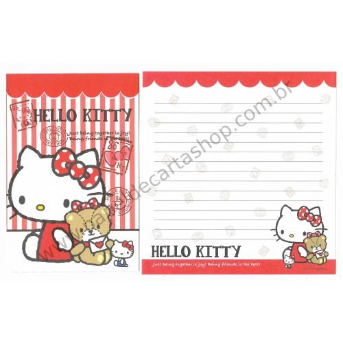 Ano 2015. Kit 2 Conjuntos de Papéis de Carta Hello Kitty - Sanrio