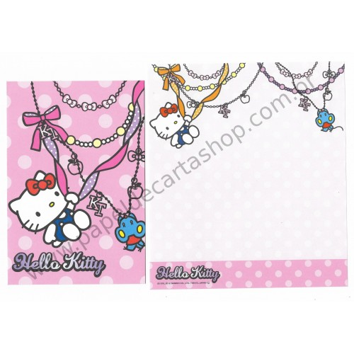 Ano 2012. Kit 2 Conjuntos de Papel de Carta Hello Kitty HK2 Sanrio