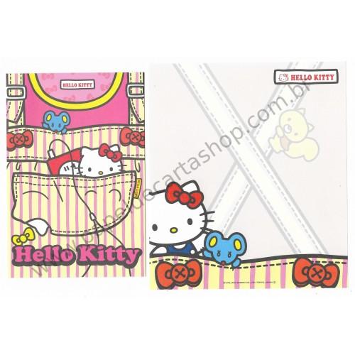 Ano 2012. Kit 2 Conjuntos de Papel de Carta Hello Kitty HK3 Sanrio