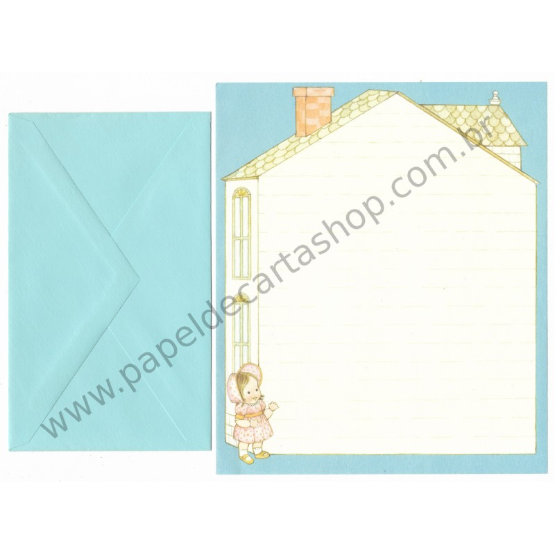 Conjunto de Papel de Carta Antigo Importado Boneca (CAZ) - Hallmark