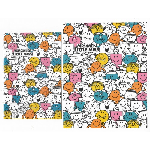 Ano 2015. Conjunto de Papel de Carta Mr. Men Little Miss - Sanrio