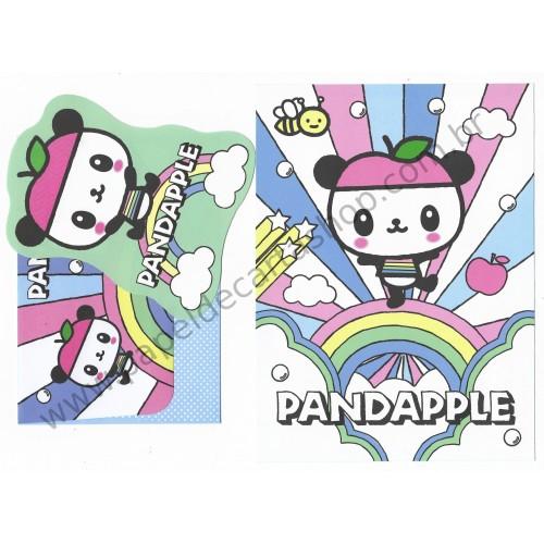 Ano 2008. Conjunto de Papel de Carta Pandapple - Sanrio