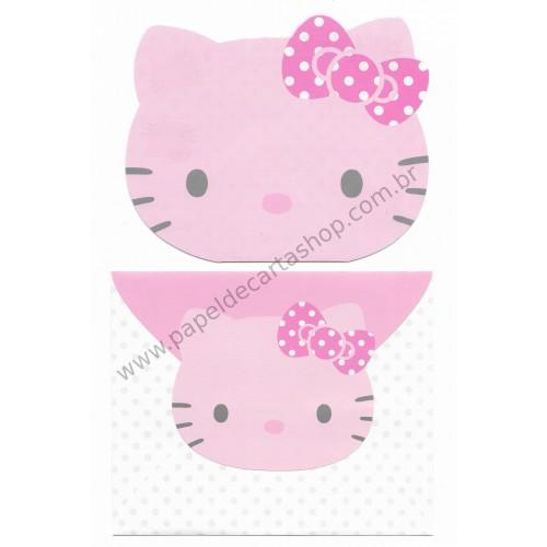 Ano 2010. Conjunto de Papel de Carta Hello Kitty DC1 Sanrio