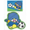 Ano 1986. Conjunto de Papel de Carta Antigo (Vintage) Tuxedosam Soccer - Sanrio