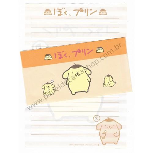 Ano 1997. Conjunto de Papel de Carta Pompompurin - Sanrio