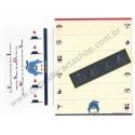 Ano 1991. Conjunto de Papel de Carta Antigo (Vintage) Tuxedosam Seaside Fun - Sanrio