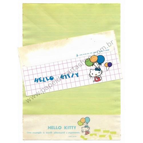 Conjunto de Papel de Carta Hello Kitty Antigo (Vintage) Lang Kuan - Taiwan