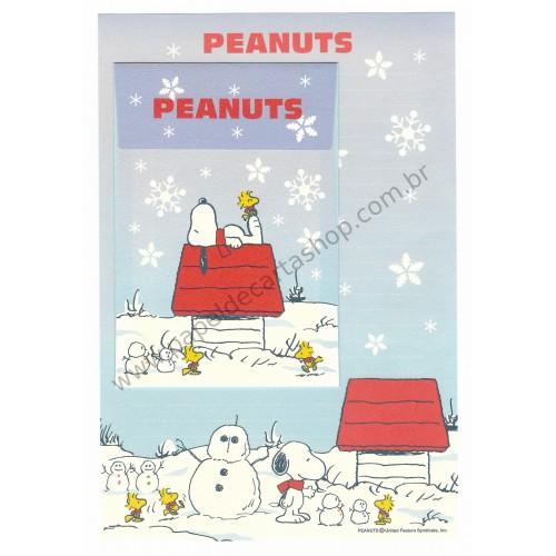 Conjunto de Papel de Carta Peanuts Boneco de Neve Peanuts Hallmark Japão