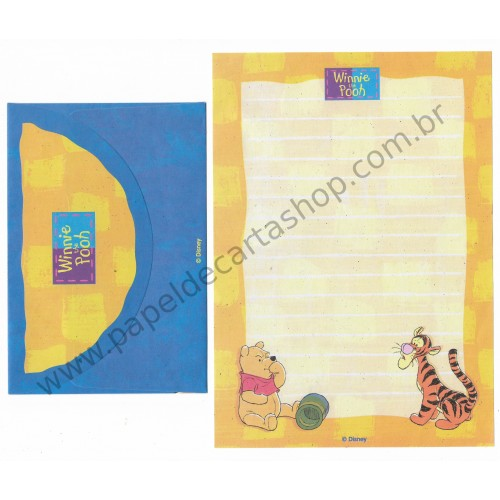 Conjunto de Papel de Carta ANTIGO Personagens Disney Pooh CAM