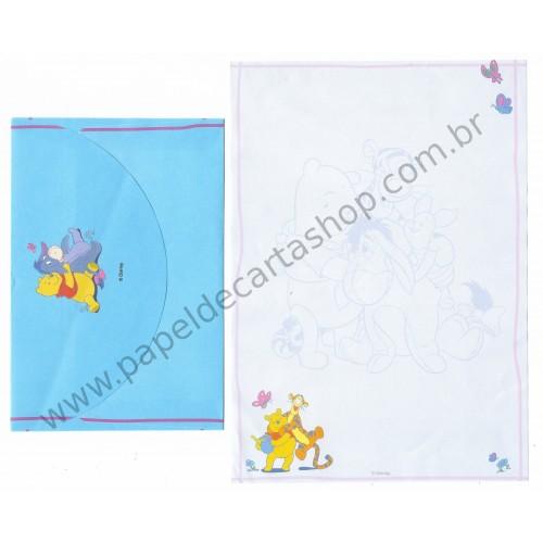 Conjunto de Papel de Carta ANTIGO Personagens Disney Pooh CAZ