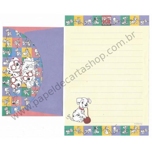 Conjunto de Papel de Carta ANTIGO Personagens Disney 101 Dalmatians