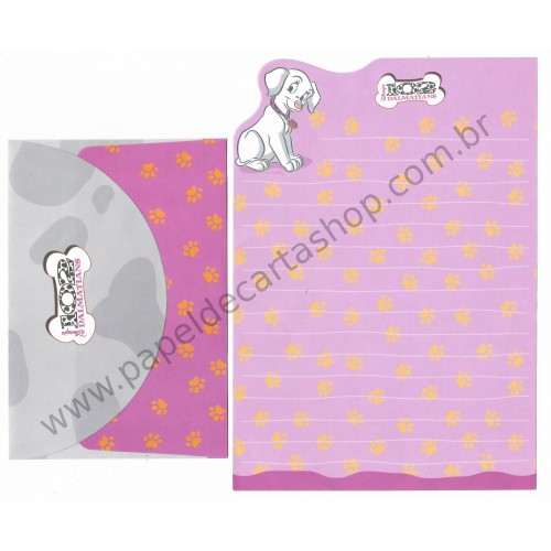 Conjunto de Papel de Carta ANTIGO Personagens Disney 102 Dalmatians