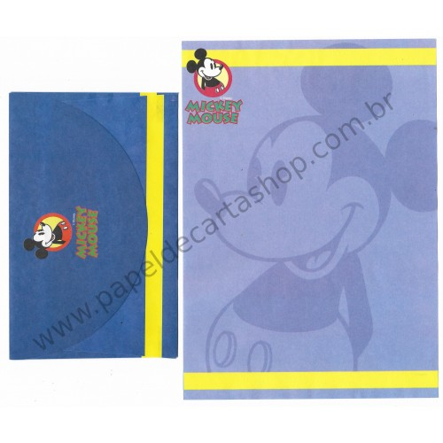 Conjunto de Papel de Carta ANTIGO Personagens Disney Mickey Mouse CDA