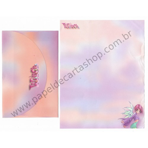 Conjunto de Papel de Carta ANTIGO Personagens Disney Witch