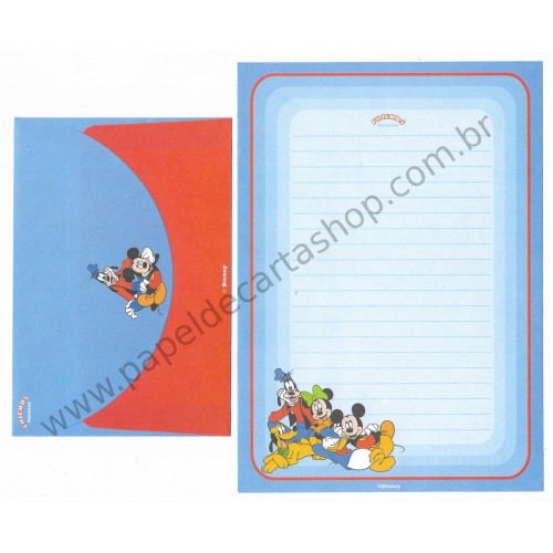 Conjunto de Papel de Carta ANTIGO Personagens Disney Friends Forever