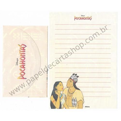 Conjunto de Papel de Carta ANTIGO Personagens Disney Pocahontas