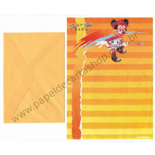 Conjunto de Papel de Carta ANTIGO Personagens Disney Duck'n Roll Band CLA