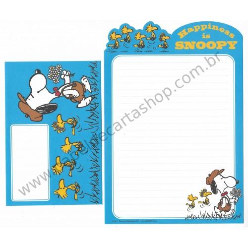 Conjunto de Papel de Carta Snoopy Happiness Vintage Peanuts