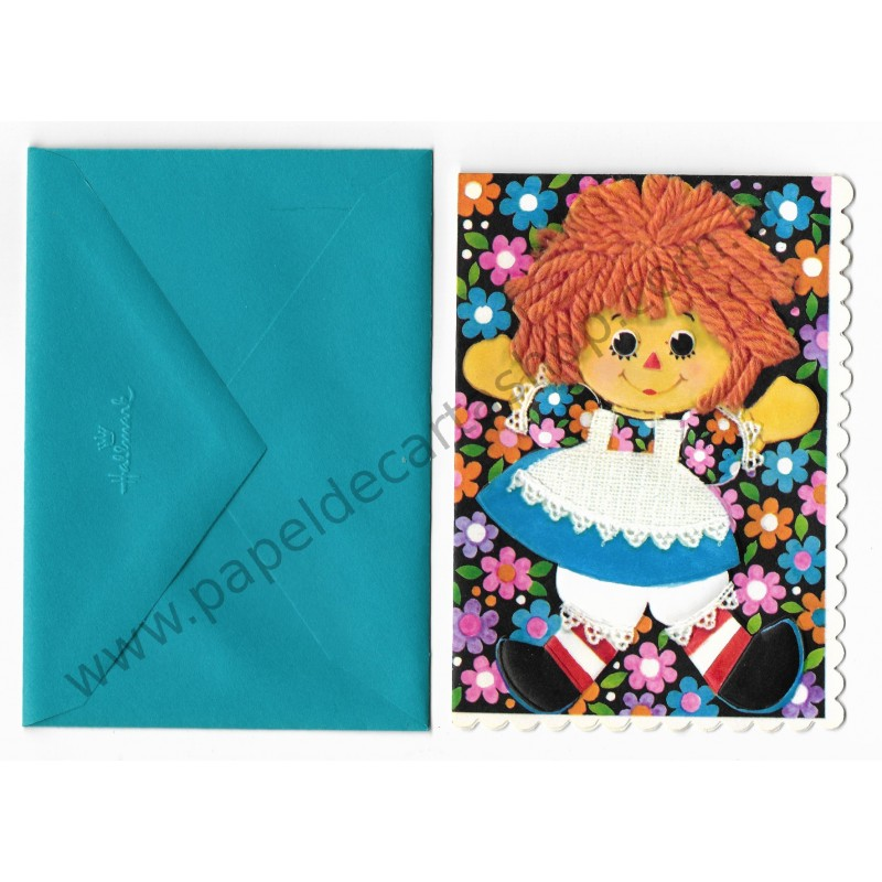 Notecard Importado Raggedy Ann Fashion CAZ - The Bobbs-Merrill Co