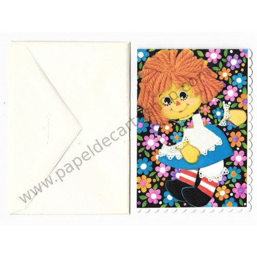 Notecard Importado Raggedy Ann Fashion CBR - The Bobbs-Merrill Co