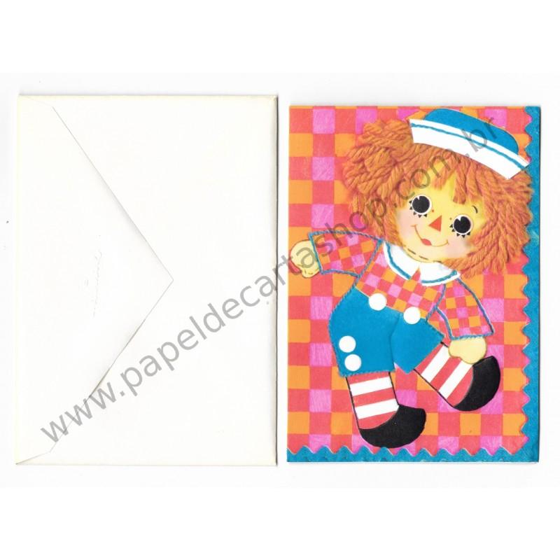 Notecard Importado Raggedy Ann CBR - The Bobbs-Merrill Co