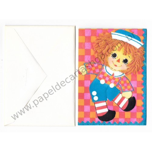 Notecard Importado Raggedy Ann CBR - The Bobbs-Merrill Co