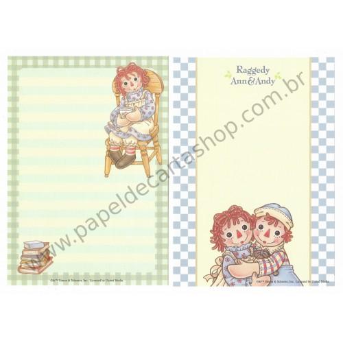 Kit 2 Papéis de Carta Importados Raggedy Ann & Andy
